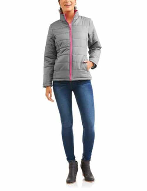 Faded Glory Women's Lightweight Bubble Jacket Coat