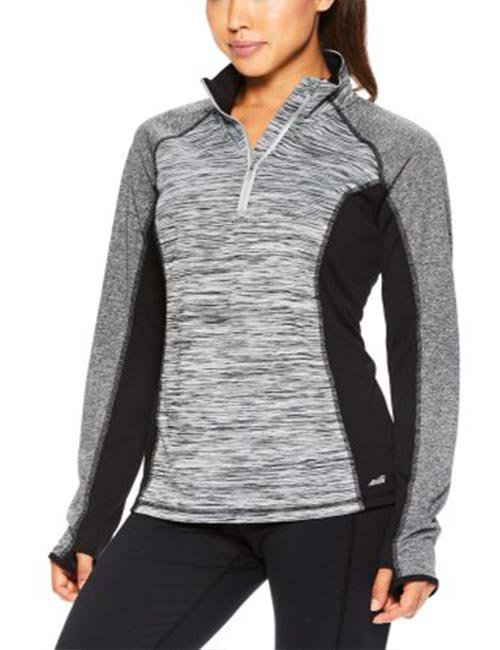 Avia Women's Core Active Half Zip Heathered Performance Jacket
