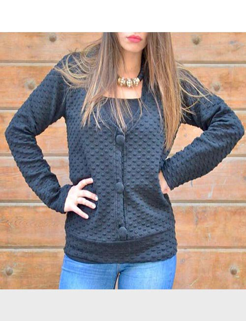 Black pattern jumper