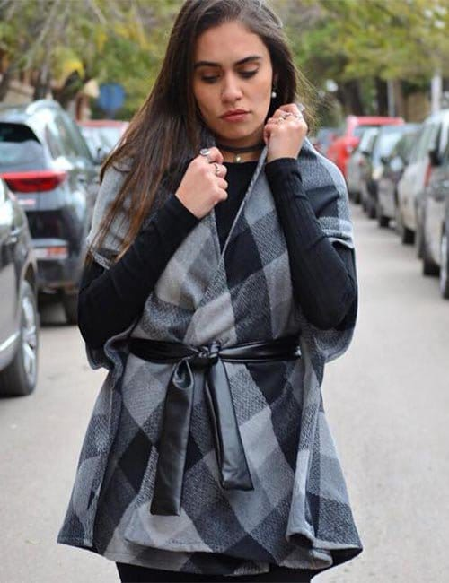 Grey black Vest