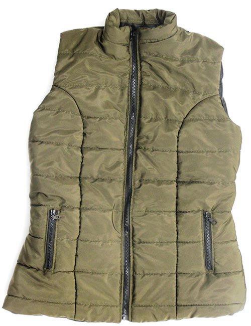Olive Puff Vest