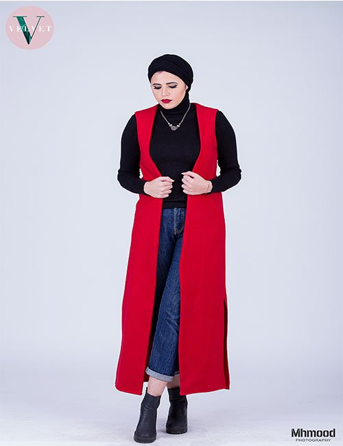 Red Maxi Vest