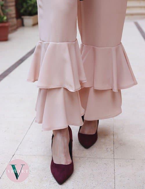 Pink Ruffles Pants