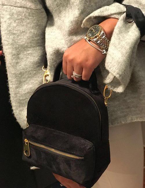 Mini velvet 2×1 backpack/cross bag