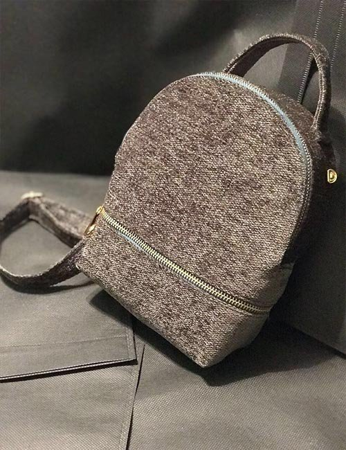 Mini wool 2×1 backpack/cross bag
