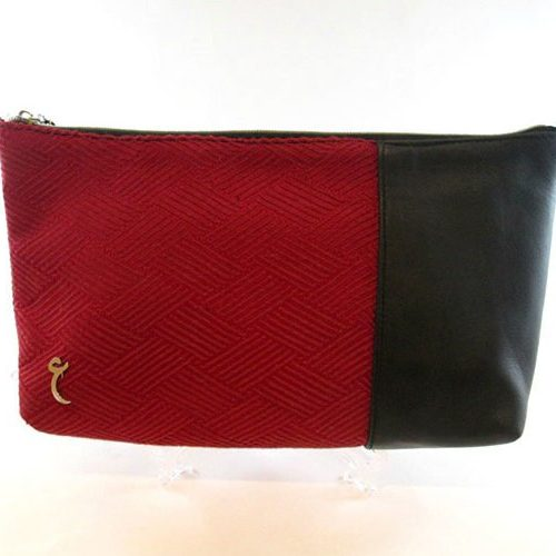 Red and black clutch