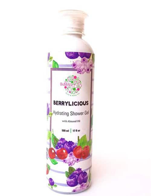 Berrylicious shower gel with almond oil