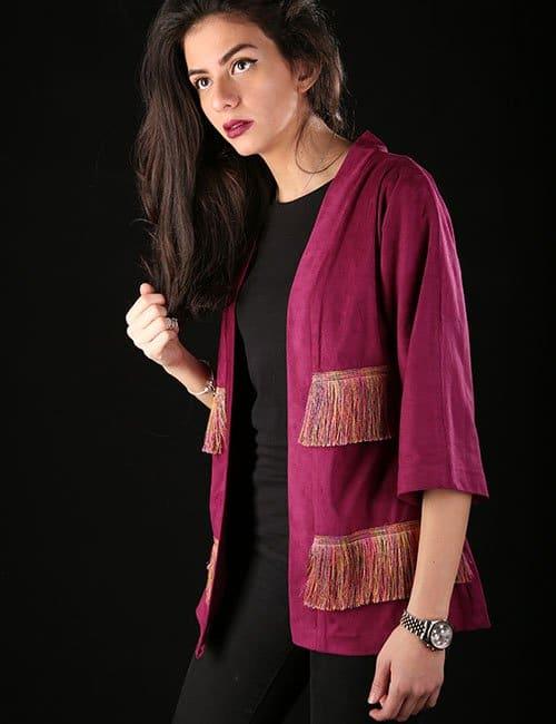 Chamois kimono jacket