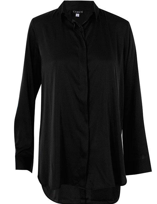 Classic Silk Shirt, Black