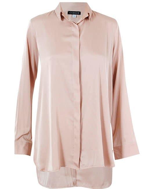 Classic Silk Shirt, Beige