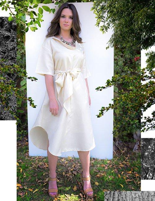 Casa-Balnca Dress, Pale Yellow (Free size)