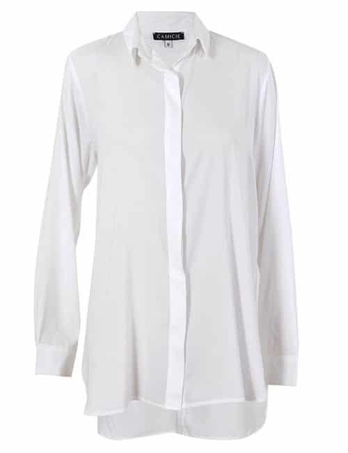 Classic Silk Shirt Off- White