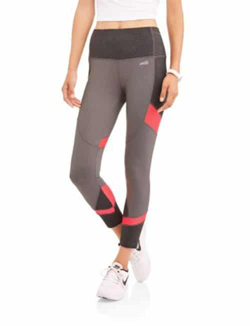 Avia Women's Active Performance 25″ Length Crop with Mesh Inserts