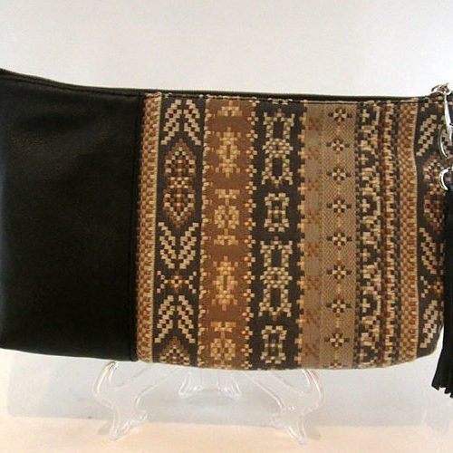 Black Pattern Clutch