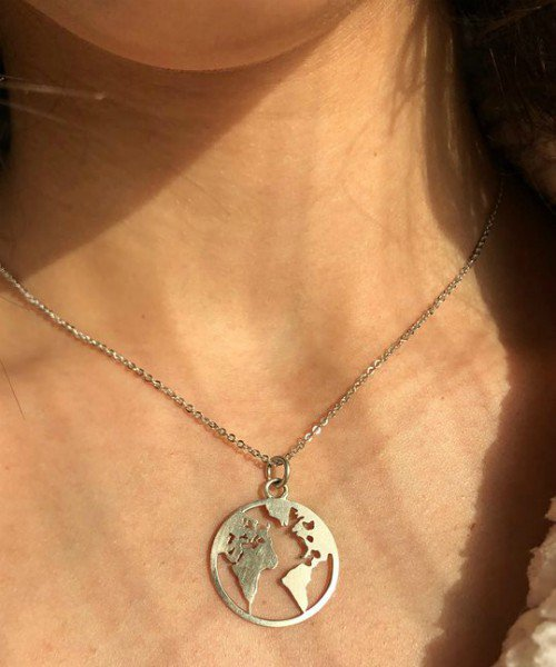 Globe Silver Necklace