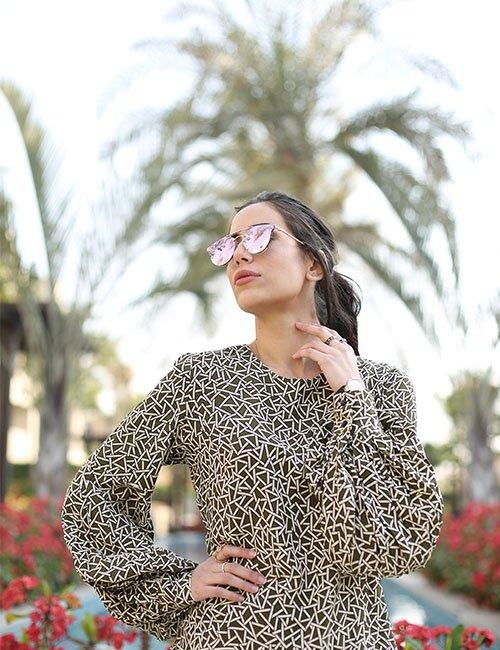 Sheer sleeved blouse