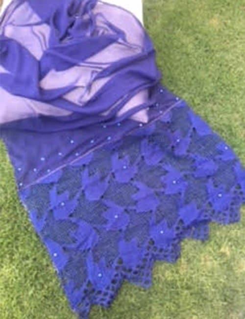 Blue scarve
