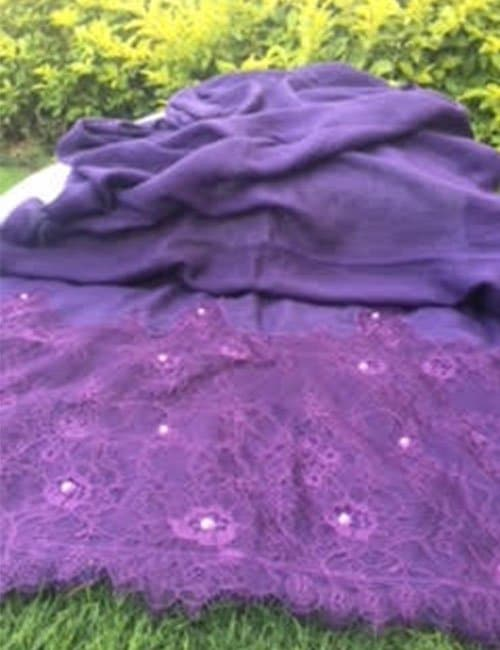 Purple scarve