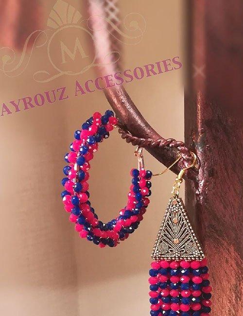 Pink Blue earrings