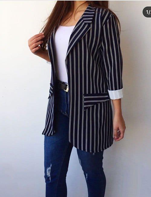 Long striped Blazer
