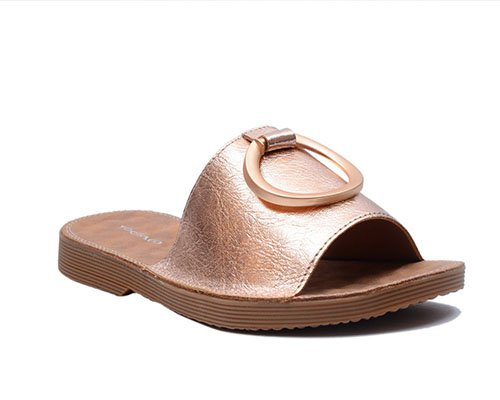 Leather ring slipper