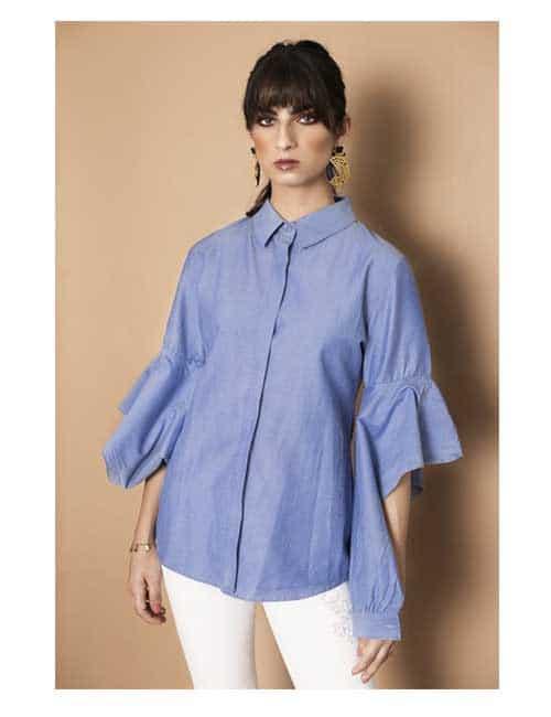 Ruffled Sleeves Shirt