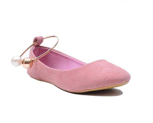 Pearl Anklet velvet ballerina