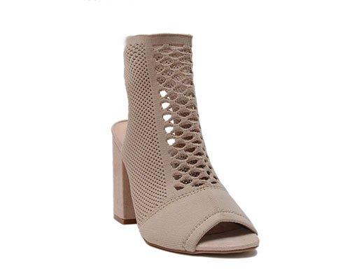 Gladiator peep toe block shoe