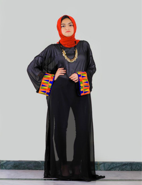 Black See Through Abaya