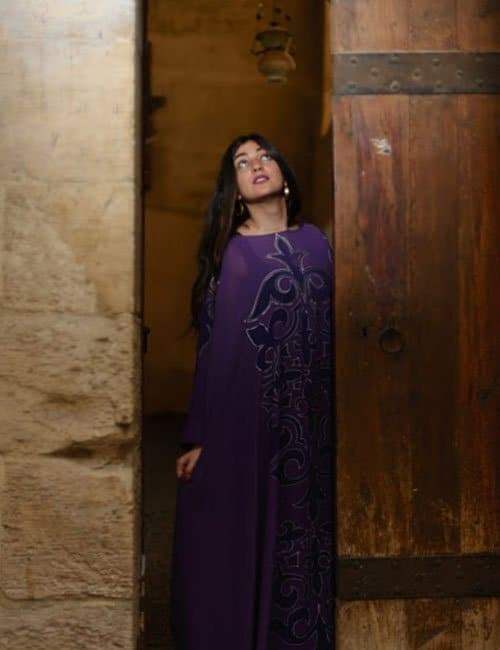 Hand painted Abaya – Free size