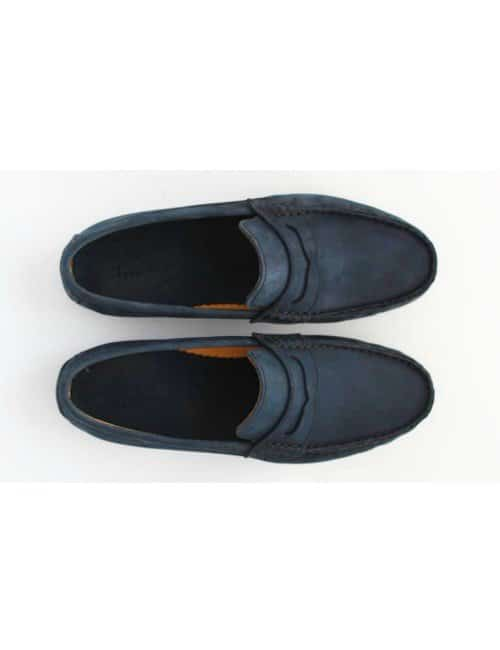 NAVY PENNY LOAFER