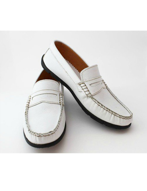 WHITE PENNY LOAFER