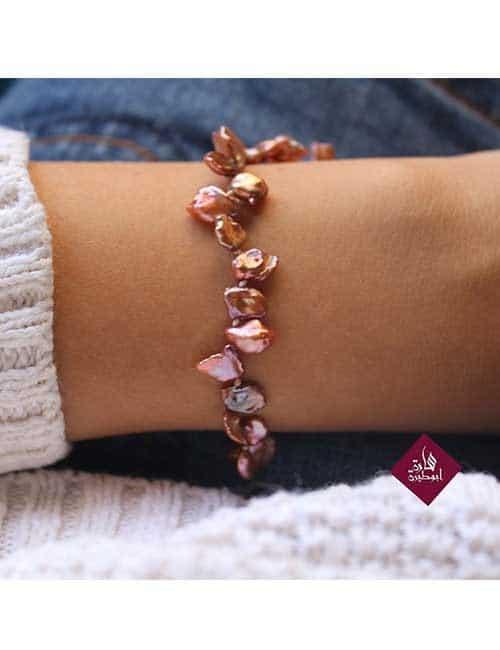 Pearl silver bracelet