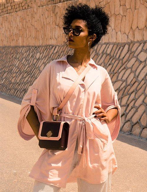 Flowy Trench Style Jacket/dress , Dusty Pink