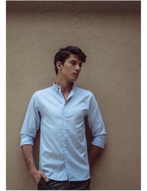 Sky Blue Shirt.