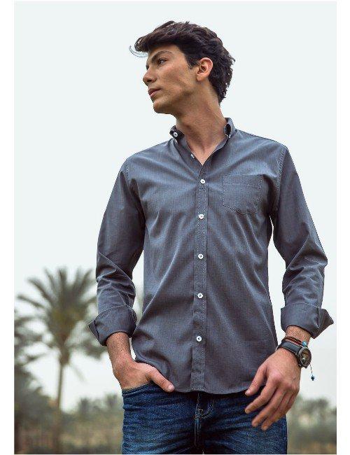 Gray Shirt.