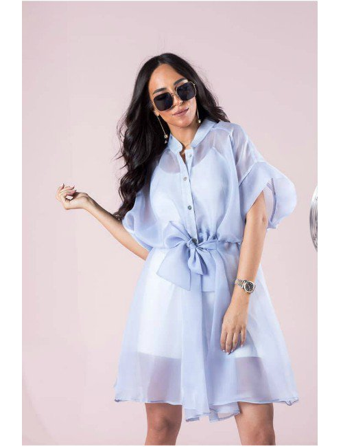 ORGANZA LONG BLOUSE