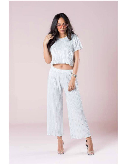 PLISE TWINSET – CROPPED TOP