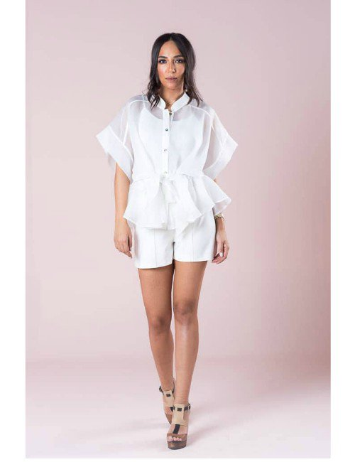 ORGANZA SHORT BLOUSE