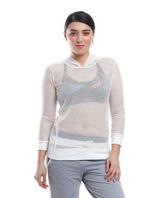 SPORTS LONG SLEEVE NET HOODIE