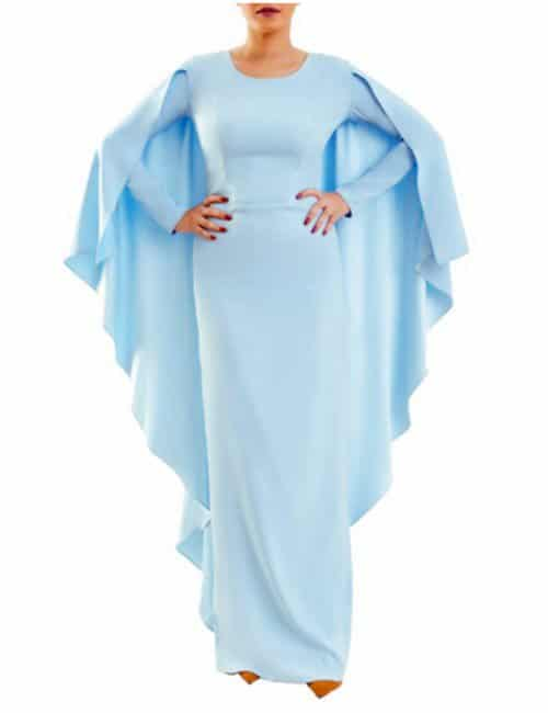 THE CAPE DRESS – BABY BLUE