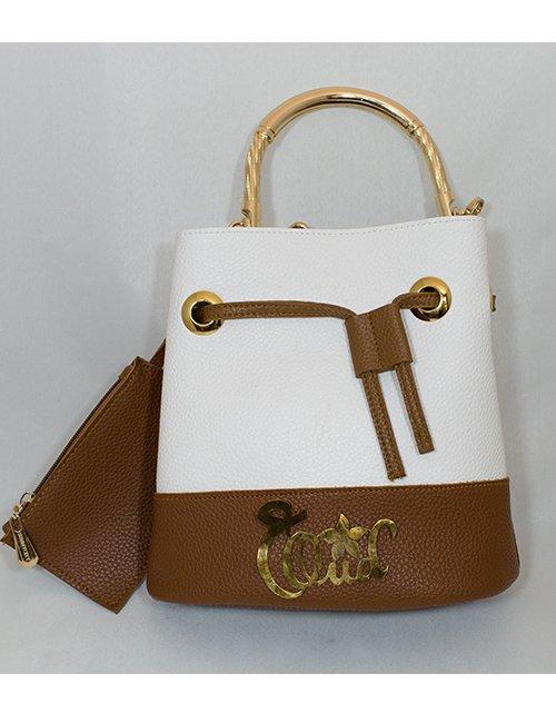 WHITE AND BROWN BAG