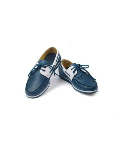 SEBAGO BLUE AND WHITE