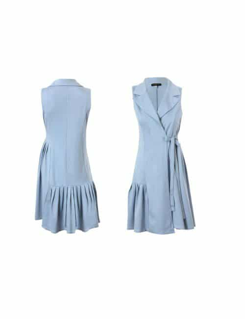LEVELED PLEATED VEST