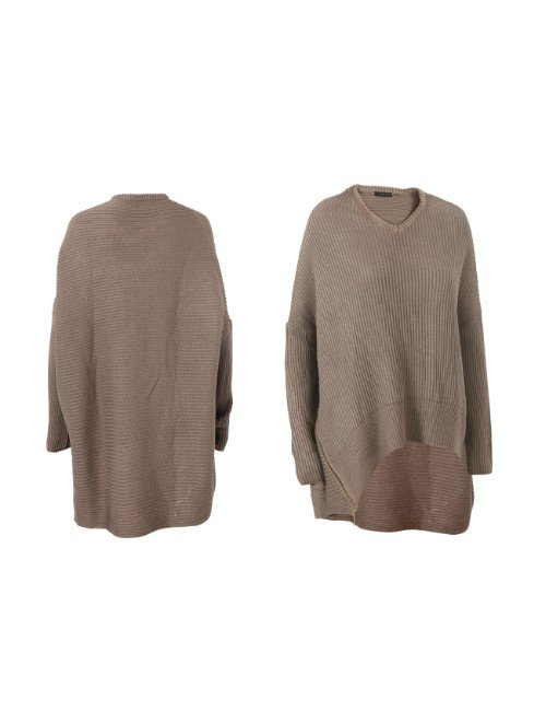 SIDE ZIPPER WOOL SWEATER