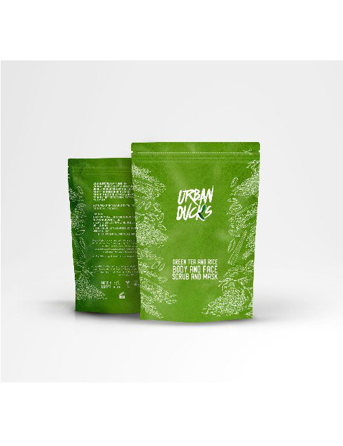 GREEN TEA & RICE BODY FACE AND BODY SCRUB AND MASK
