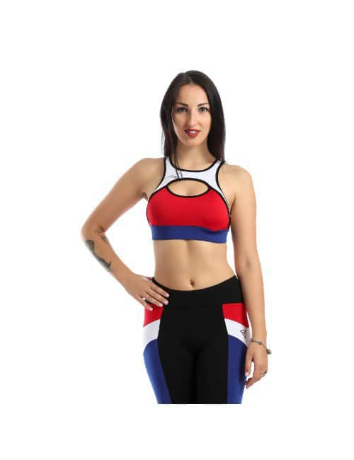 MULTICOLORED SPORTS BRA