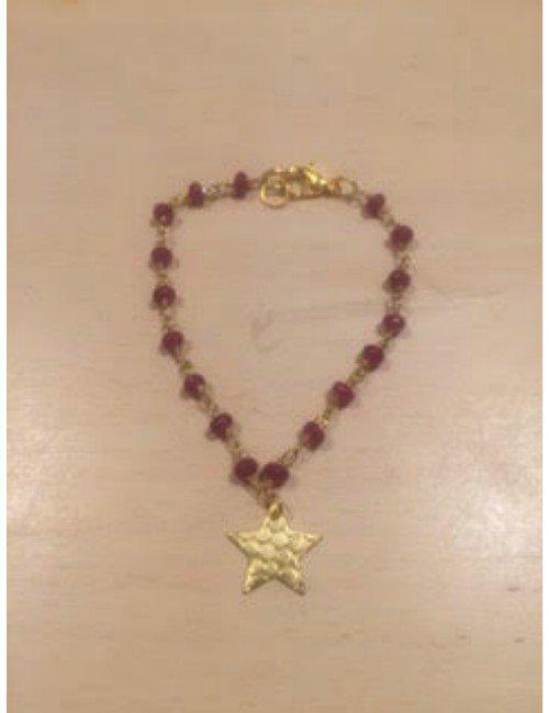 STAR BURGUNDY BRACELET