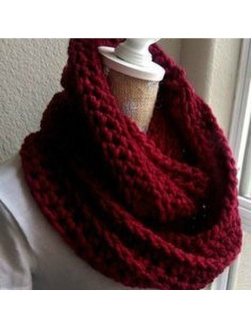 RED INFINITY SCARVES