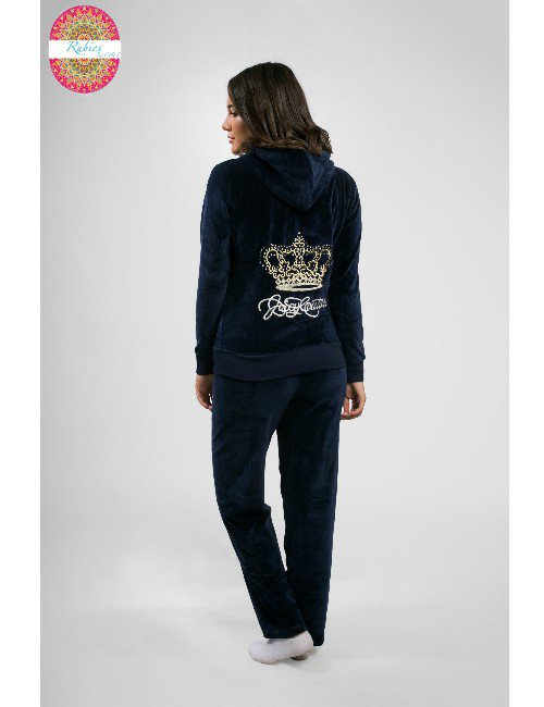 NAVY BLUE WITH GOLDEN EMBROIDERY ON BACK AND PLAIN FRONT